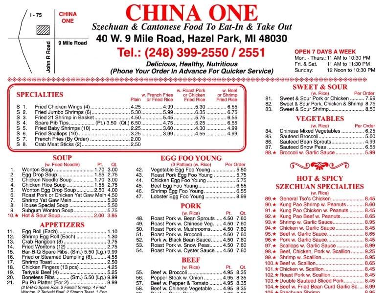 Chinese Restaurants In Hazel Park Mi