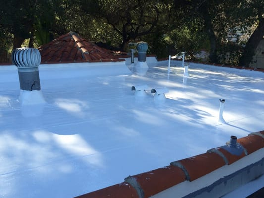 Photo Of All State Roofing   Downey, CA, United States. Liquid Silicone On