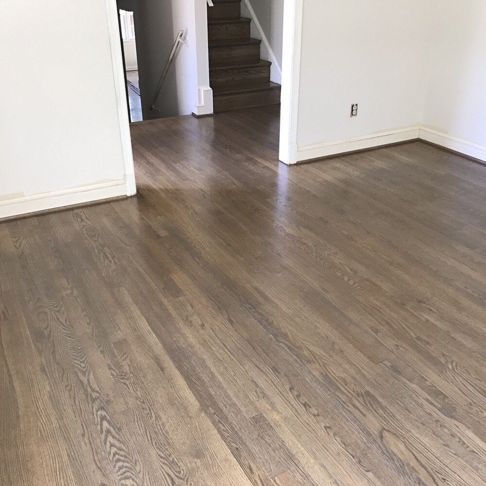 Parquet Flooring Stained Grey: Classic Gray Stain On White Oak Floors.
