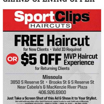 sport coupons free haircut sport haircuts of missoula s hair salons 2548