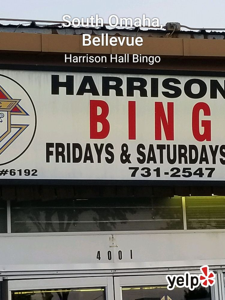 Harrison Hall Bingo: 4001 Harrison St, Bellevue, NE