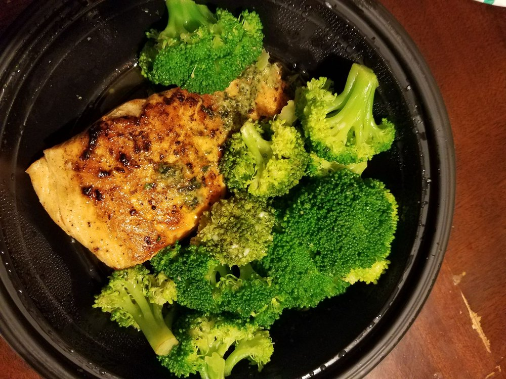 Herb grilled salmon with broccoli - Yelp
