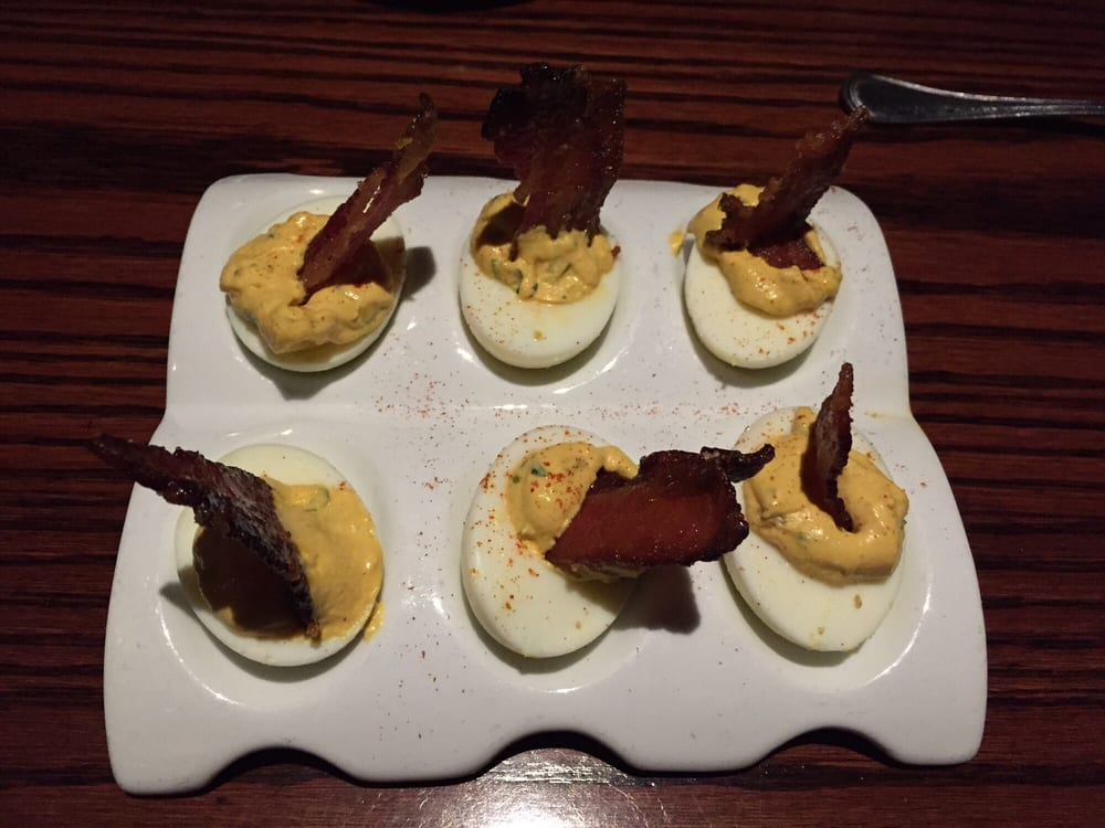 Deviled eggs with brown sugar bacon - Yelp