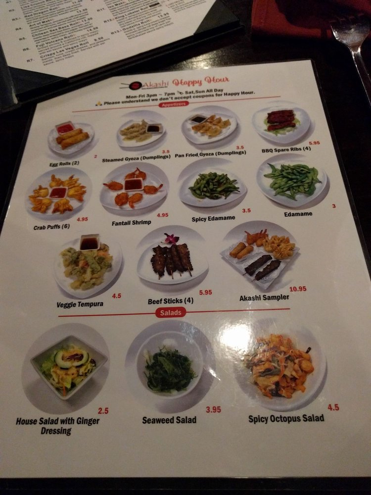 Happy hour menu yelp for Asia sushi bar and asian cuisine mashpee