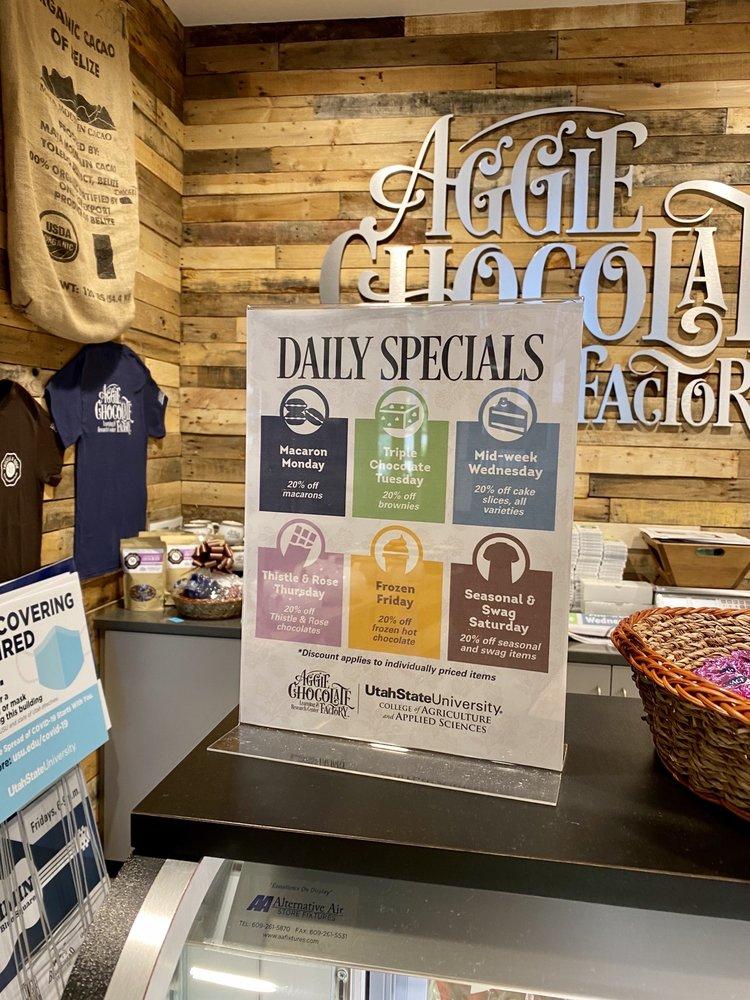 Aggie Chocolate Factory: 1111 N 800th E, Logan, UT