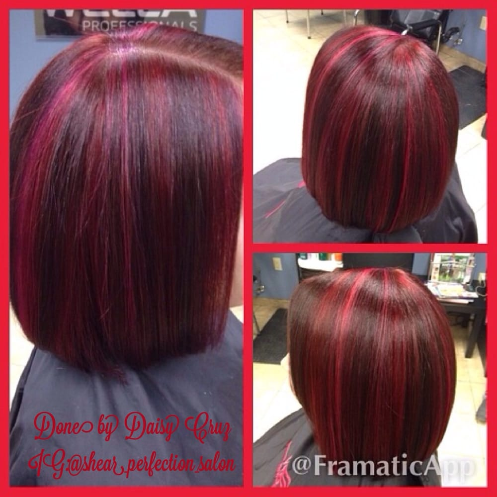 Red And Magenta Highlights On Red Violet Hair Yelp