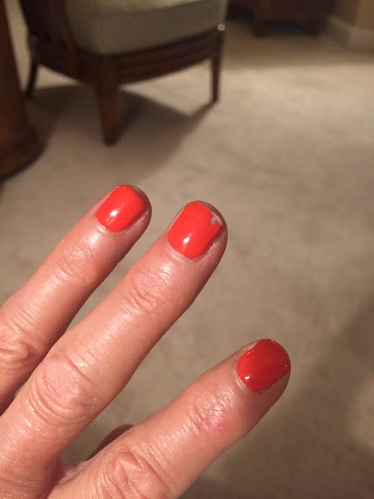 Poor products, poor nail (gel) manicure from Nail Art Shawnee, Ks - Yelp