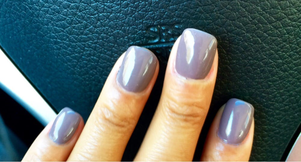 Acrylic nails with a nice Fall 2014 color (OPI) - Yelp