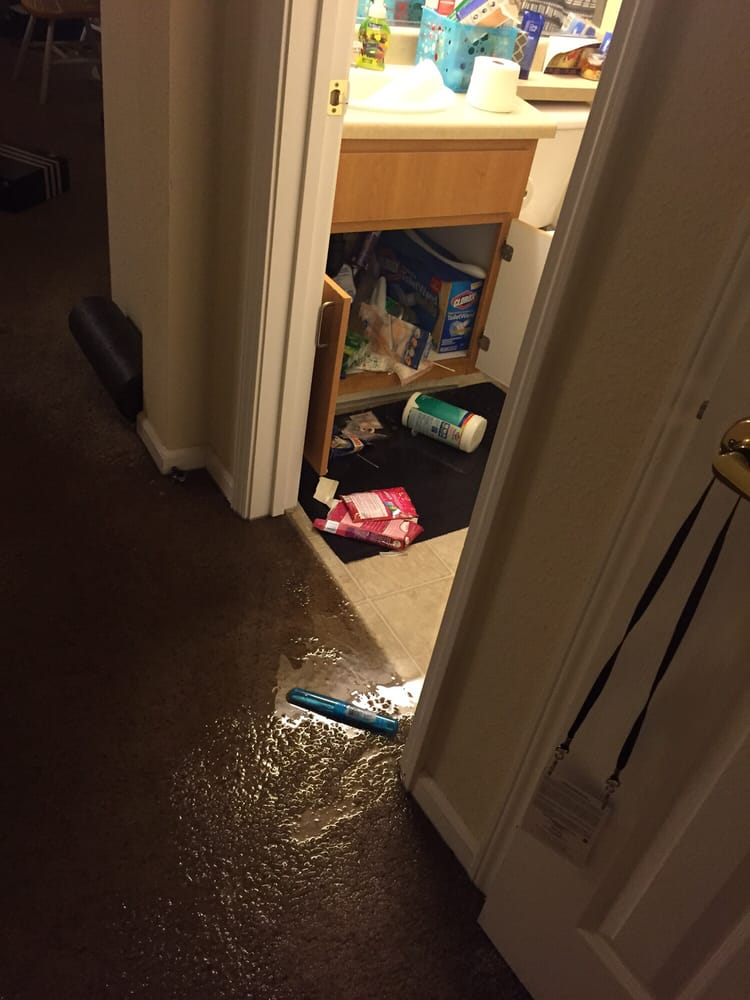 Photo Of Villagio Luxury Apartments   Sacramento, CA, United States. Flooded  Bathroom Due