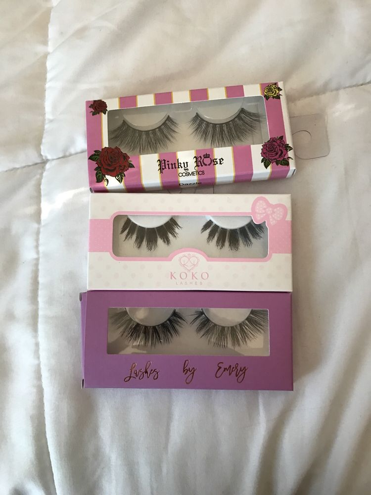 fd8aa84911f Top: pinky rose cosmetics (dazzle) Middle: Koko Lashes (risqué ...