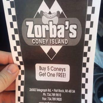 Zorbas Coney Island Flat Rock
