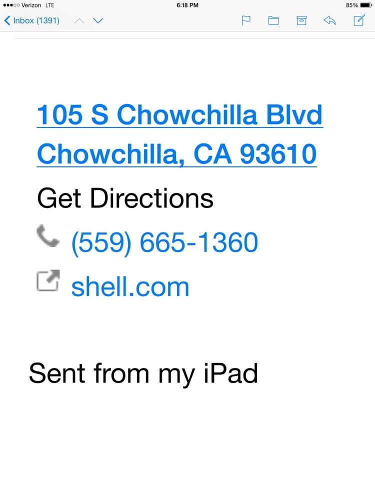 Chowchilla Shell