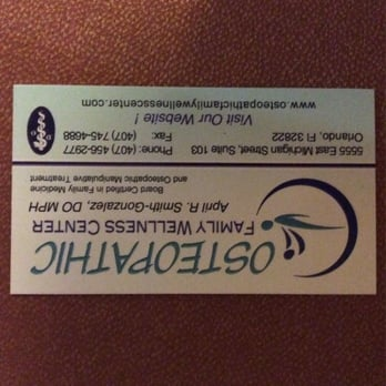 Osteopathic Family Wellness Center Osteopathic