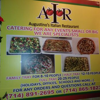 Photo Of Augustino S Italian Restaurant Garden Grove Ca United States Catering