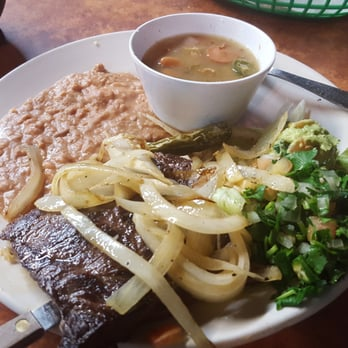 Photo Of Rancho Restaurant Irving Tx United States Carne Asada With Refried