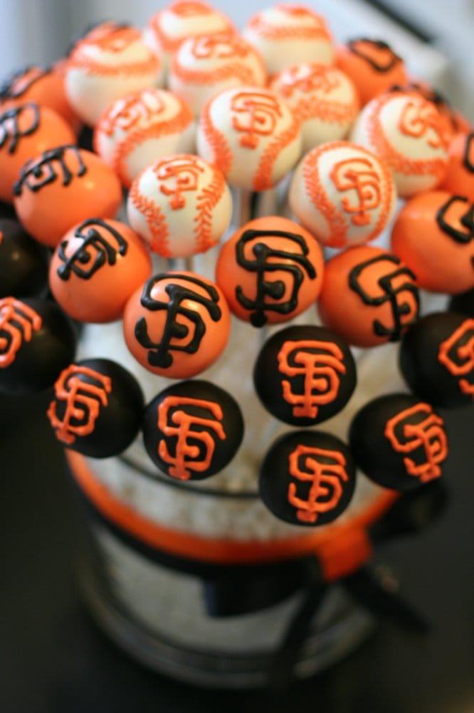 Display Of San Francisco Giants Themed Cake Pops Yelp