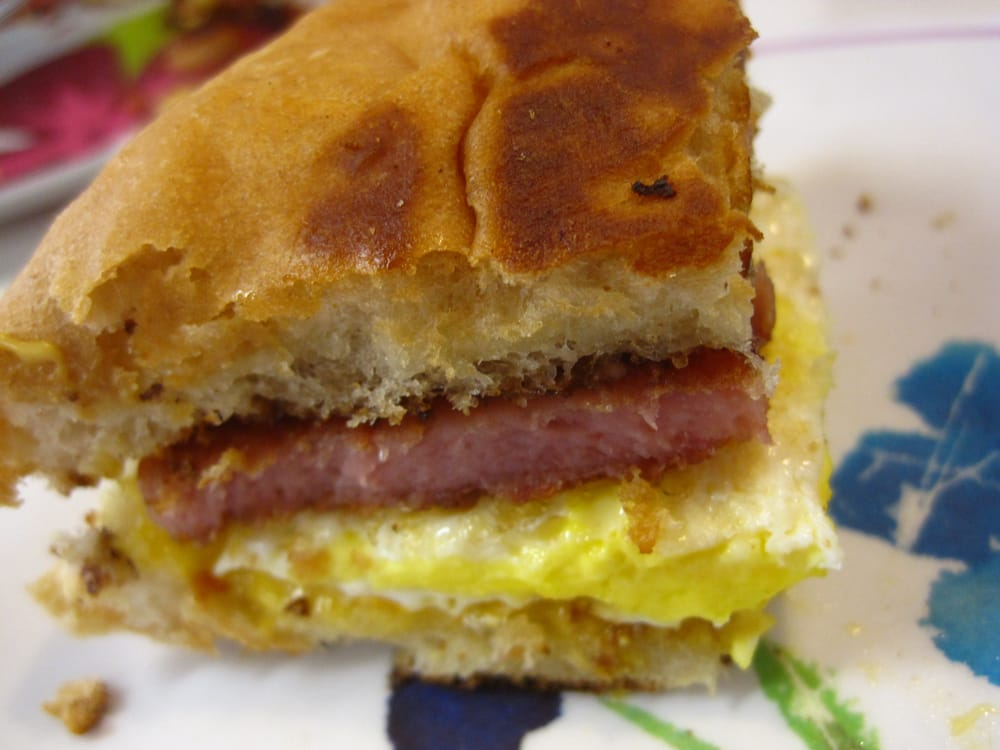 Spam And Egg Sandwich spam , egg , cheese breakfast sandwich . rolls ...