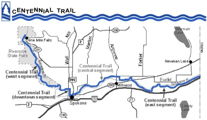 Map of the trail - Yelp Centennial Trail Map on
