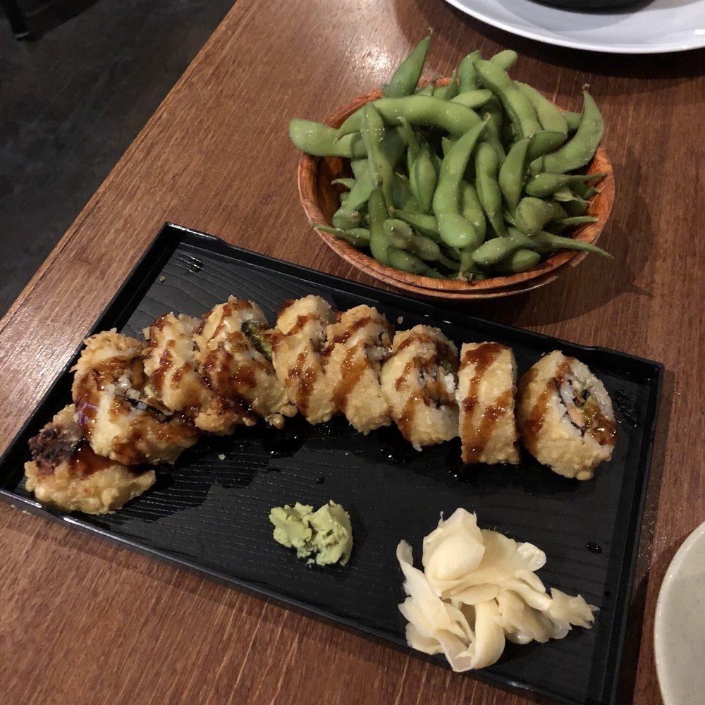 ballard crunch roll and edamame - yelp