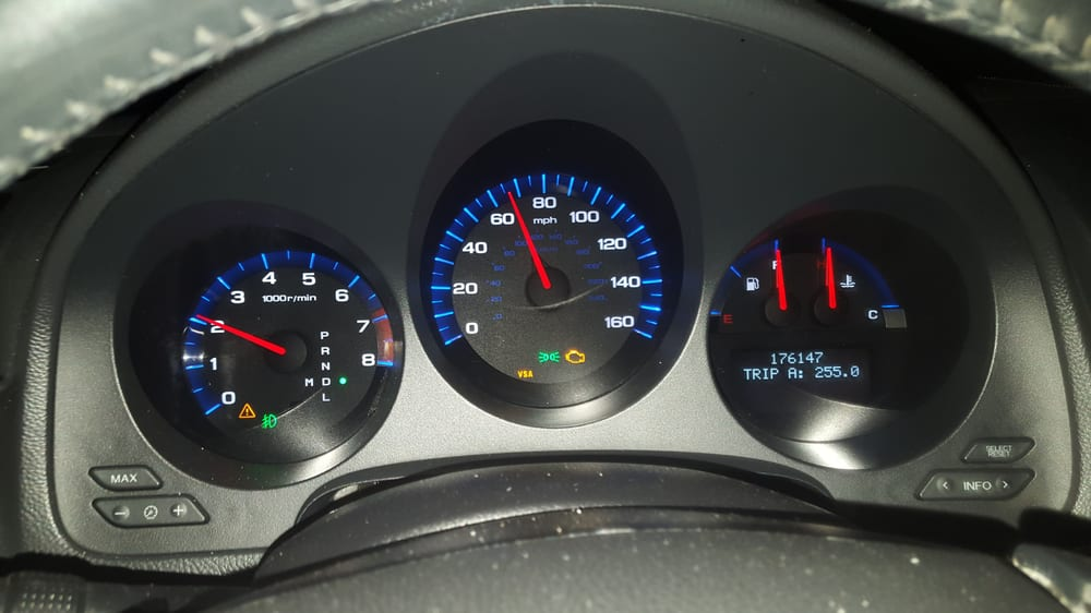 On The Fwy And My Acura TL Dashboard Showing The Symptoms - Acura tl dashboard