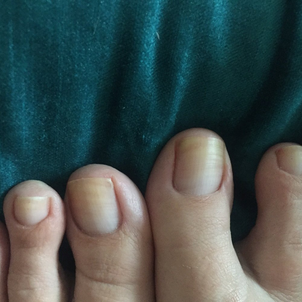Really! Disappointed by the pedicure. She only took the old polish ...