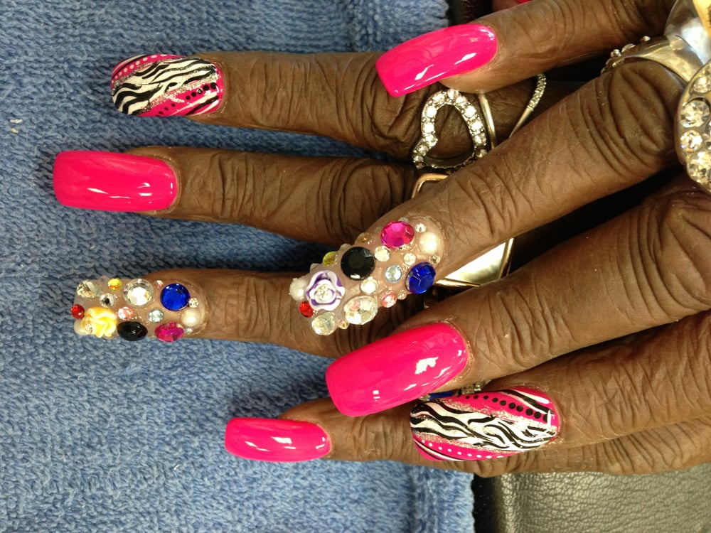 Photo of Beauty Touch Hair & Nails - Glen Burnie, MD, United States. - Junk Nails Designs - Yelp