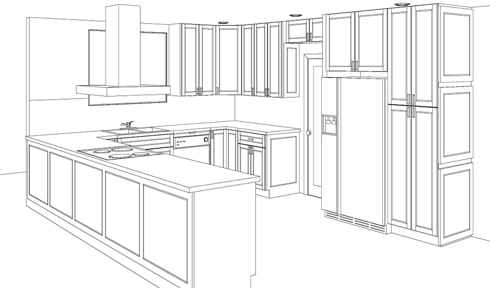 From initial design and kitchen sketch to cabinet for Kitchen cabinets hialeah