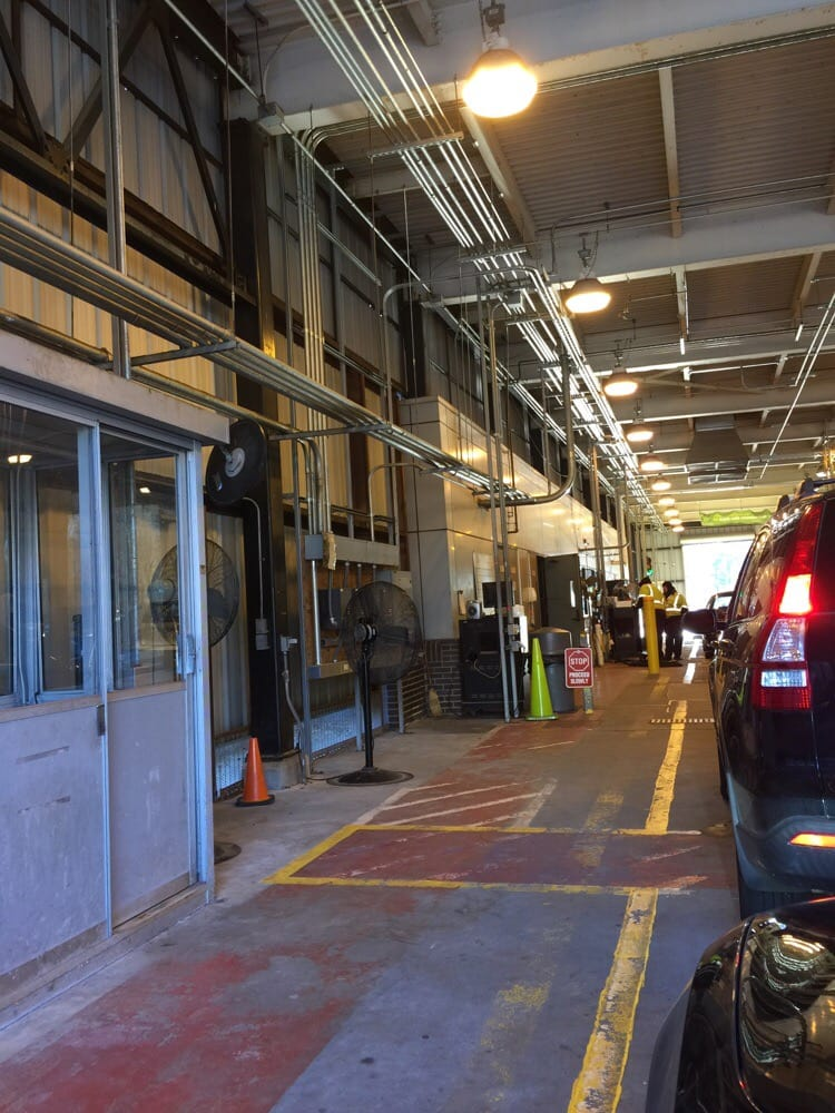 Inside inspection lanes they work quick here yelp for Motor vehicle inspection nj