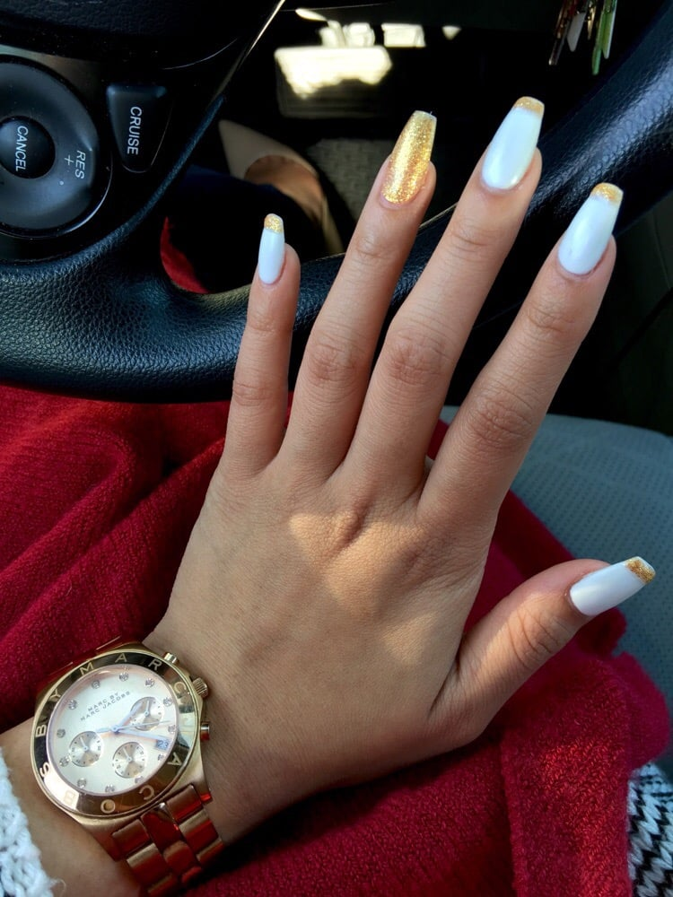 Off A Picture Job Looks Great Matte White Full Set Coffin Tip With