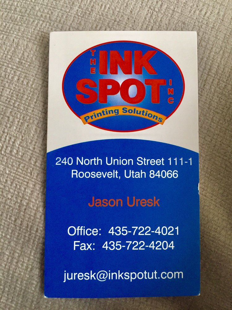 The Ink Spot: 240 N Union St, Roosevelt, UT