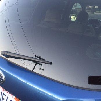 Car Wash With Broken Windshield