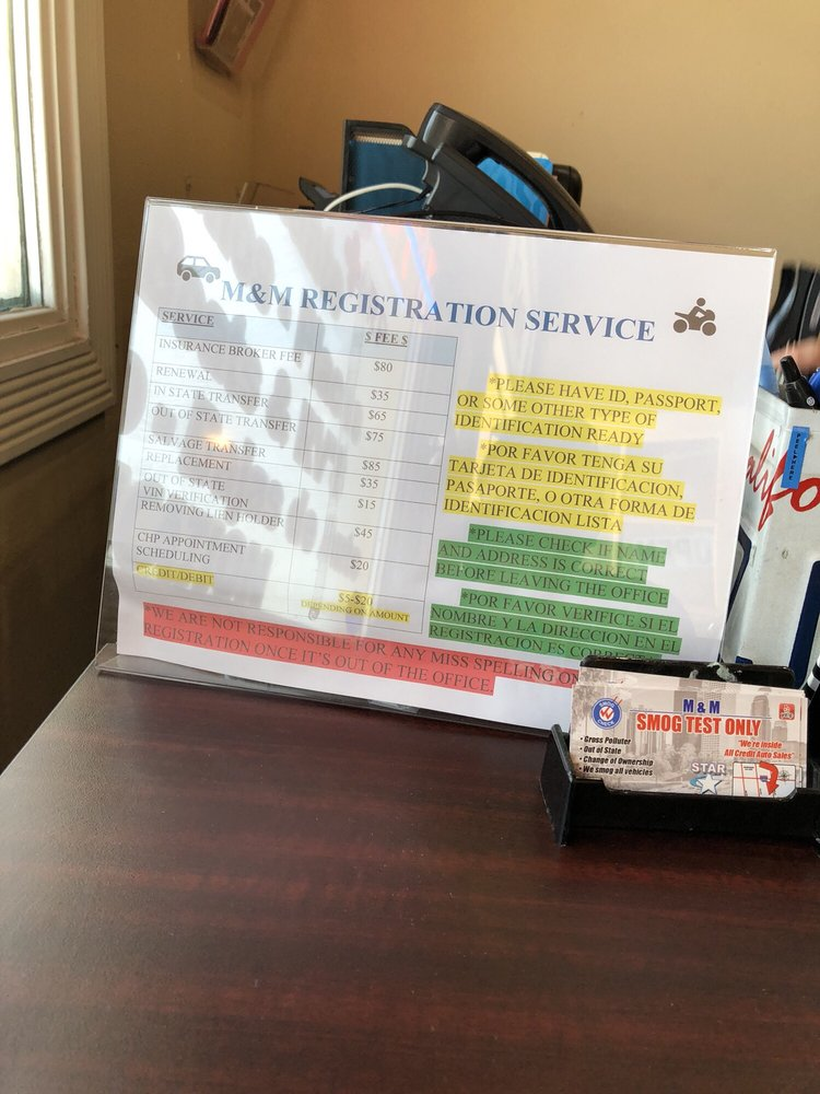 M&M Registration Service: 3148 Alum Rock Ave, San Jose, CA