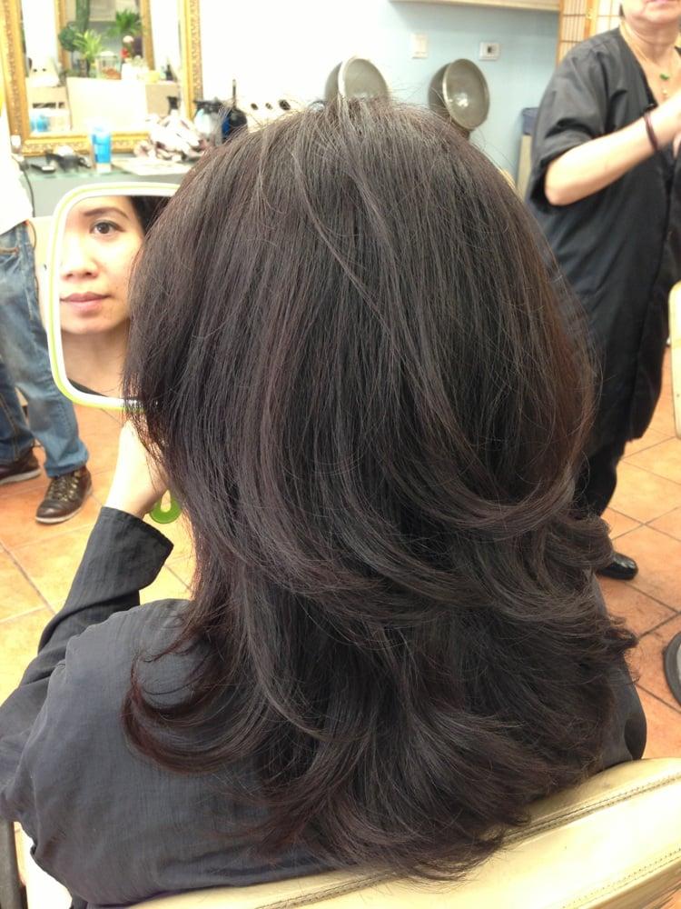 After Photo Natural Dark Brown Hair Coloring New Layers