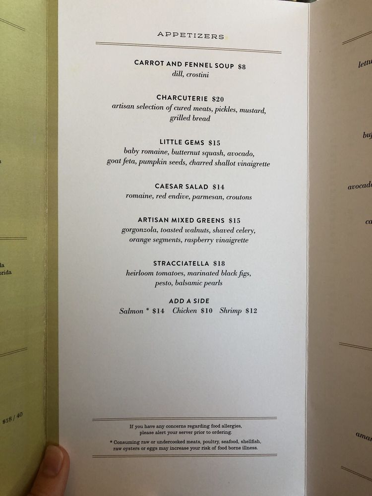 Online Menu Of Terrazza Restaurant Naples Florida 34108