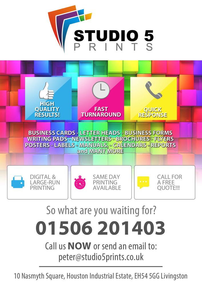 Studio 5 prints printing photocopying 10 nasmyth square studio 5 prints printing photocopying 10 nasmyth square livingston west lothian phone number yelp reheart Images