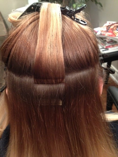 Install Of Tape Hair Extensions No Damage And Out The Door In An