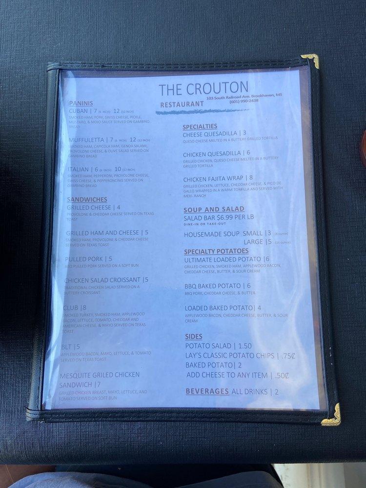 The Crouton: 103 S Railroad Ave, Brookhaven, MS