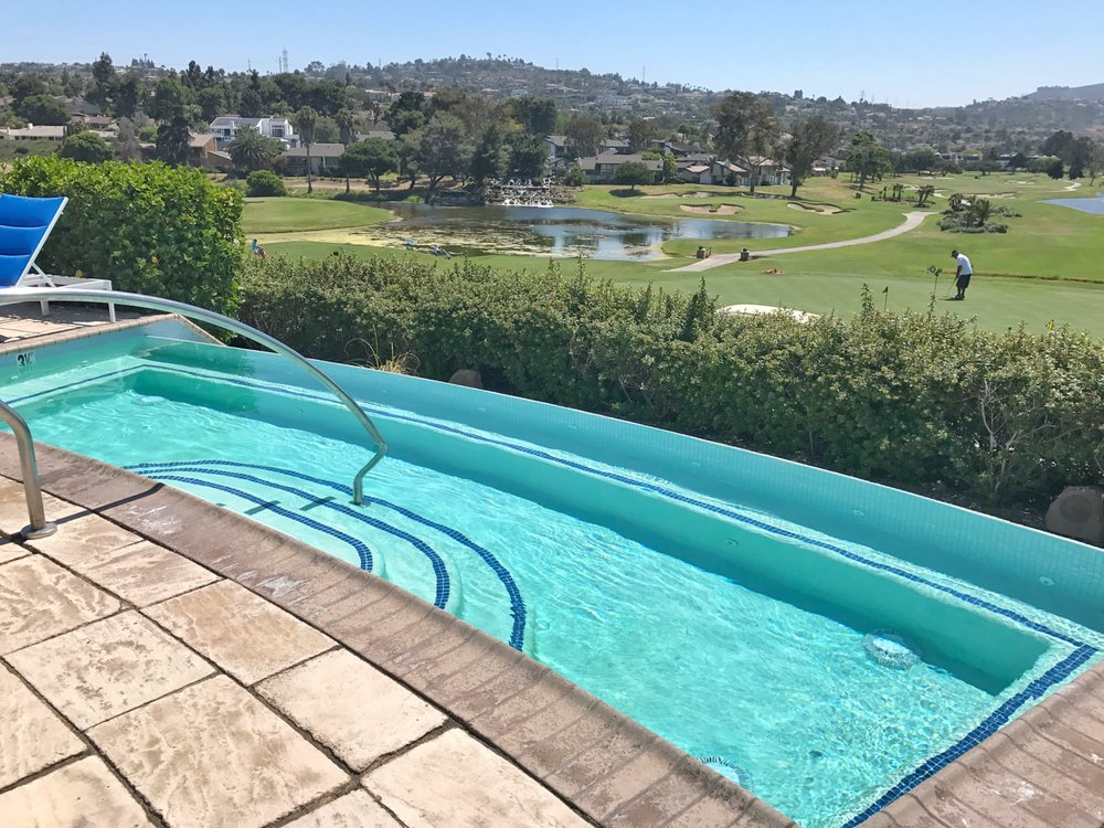 One of the adult pools the infinity pool overlooking the golf