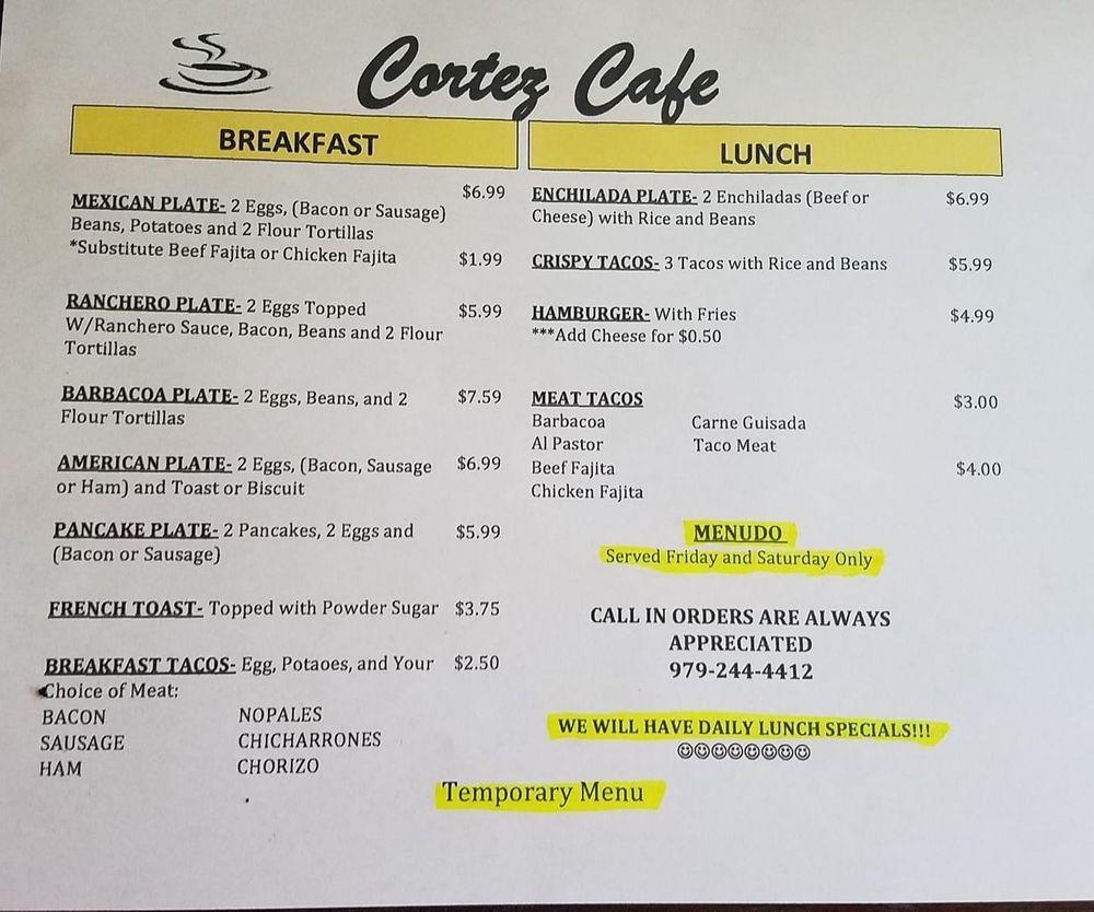 Cortez Cafe: 1821 13th St, Bay City, TX
