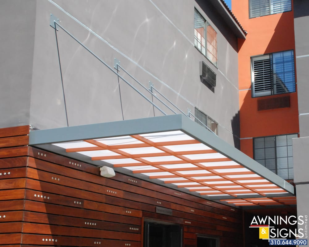 Photo of Awnings u0026 Signs Unlimited - Hawthorne CA United States. Modern Hanger & Modern Hanger Rod Canopy with Lexan - Yelp