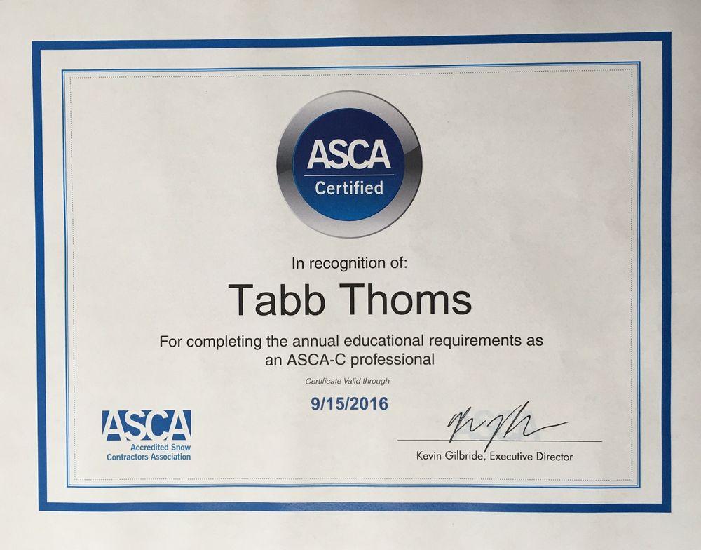 ASCA-C professional Tabb