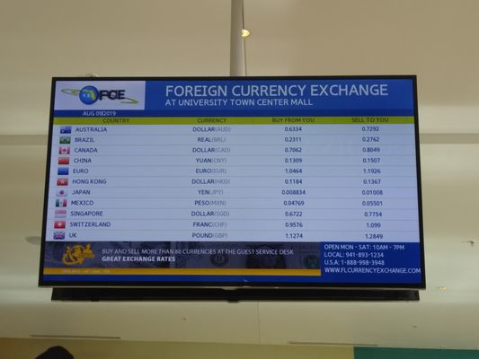 Florida Currency Exchange 140 University Town Center Dr