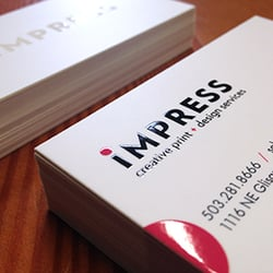 Impress printing print media 3115 ne sandy blvd kerns portland photo of impress printing portland or united states business cards reheart Images