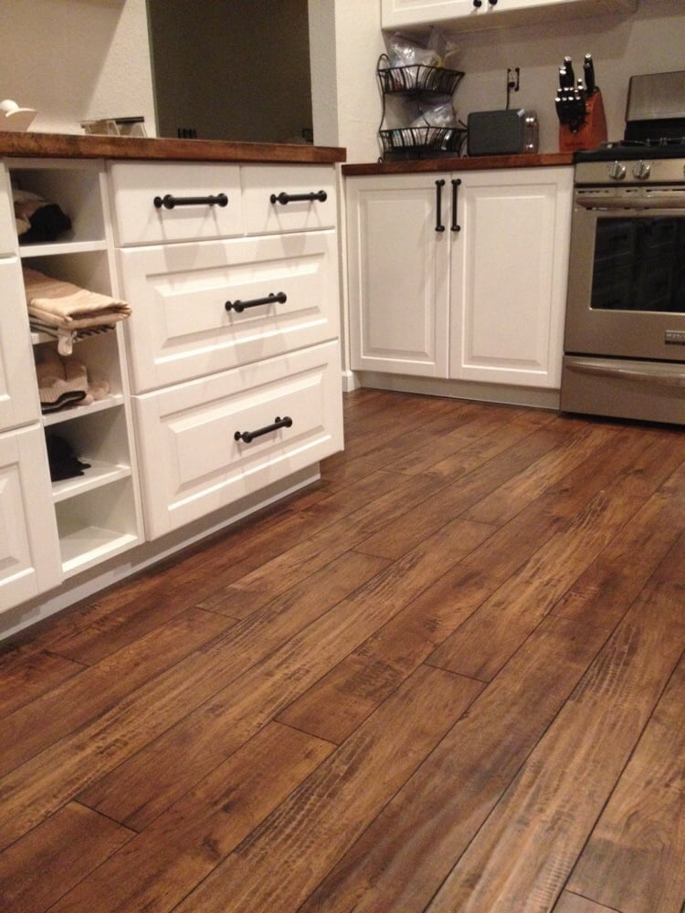 French Bleed Walnut Color Laminate Installed By Factory Direct Floor