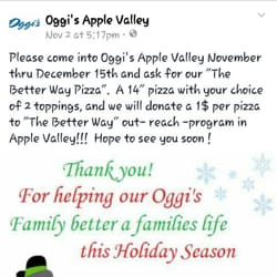 Oggis coupons apple valley