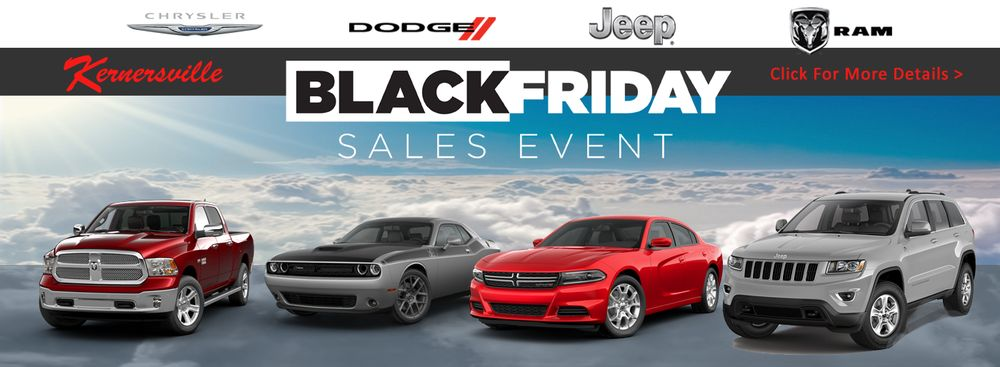 Kernersville Chrysler Dodge Jeep >> Black Friday Sale Event At Kernersville Chrysler Dodge Jeep Ram