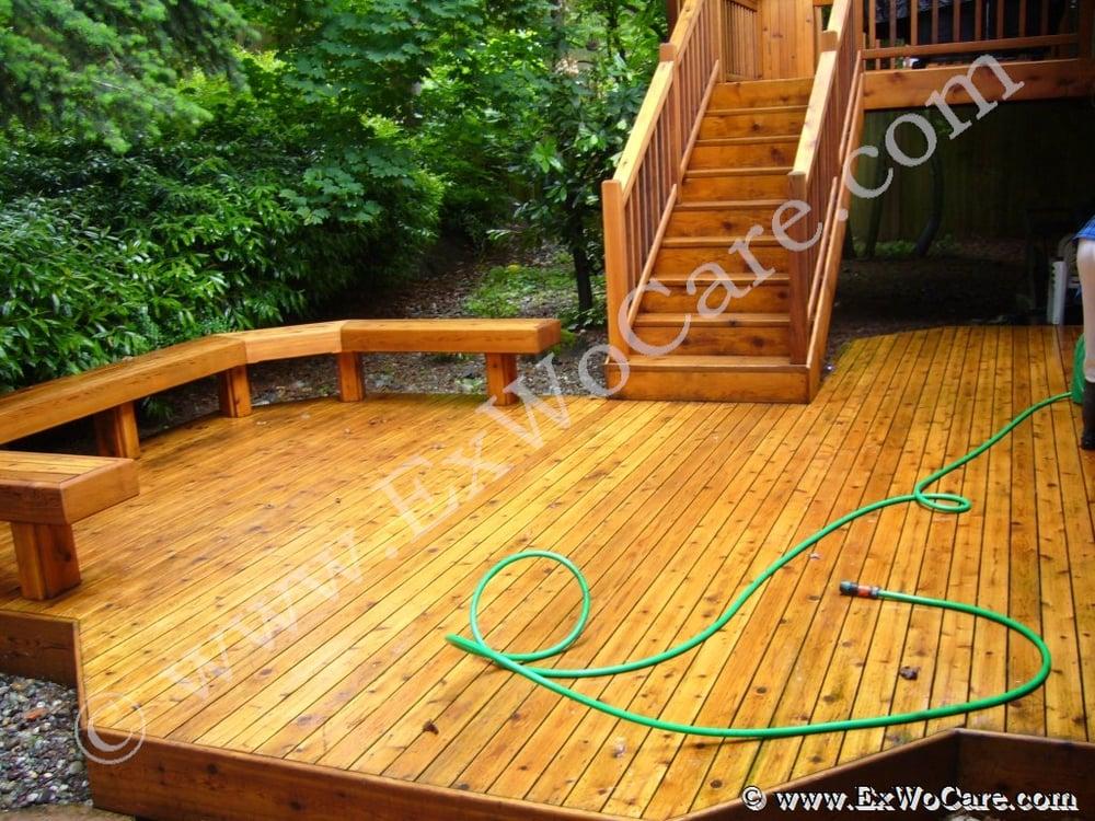 Cedar deck in cedar tone yelp for Exterior timber decking
