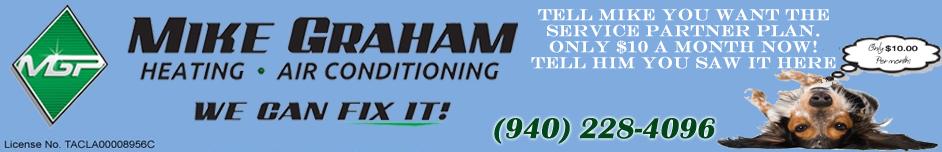 Mike Graham Heating And Air Conditioning And Plumbing: 910 Dana Dr, Burkburnett, TX