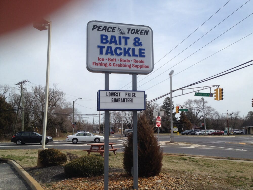 Peace Token Fishing Tackle: 1301 Route 9 S, Middle Township, NJ