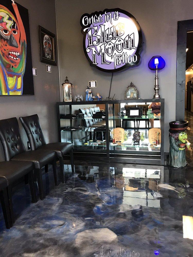 Once in a Blue Moon Tattoo: 3616 Atlanta Hwy, Flowery Branch, GA